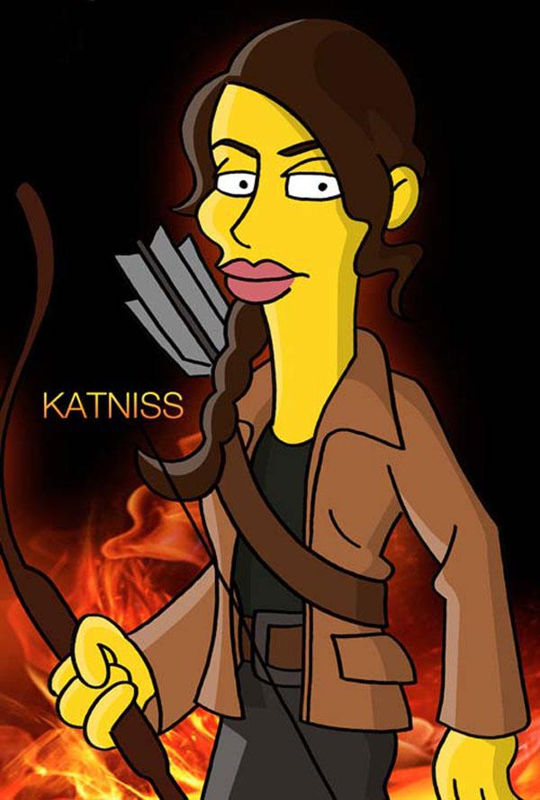Hunger Games : Simpsons mashup - Katniss