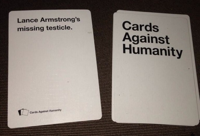 Lance Armstrong Playing Cards Against Humanity