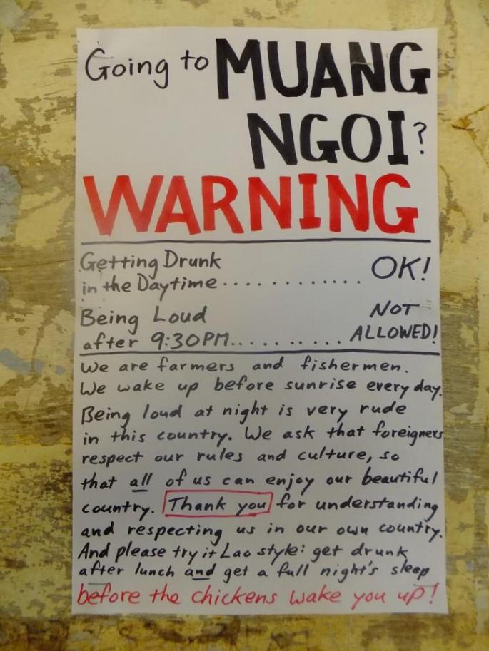 Laotian Drinking Etiquette