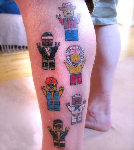 Lego tattoos - 10