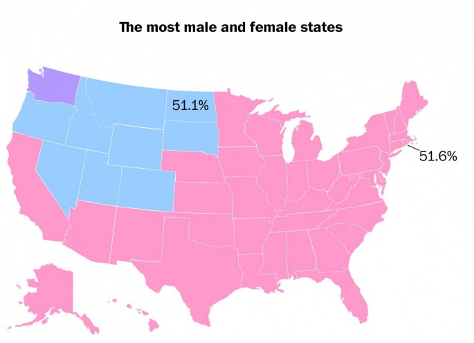 That Map From The Washington Post About FemaleMale Ratios Is Way - male map