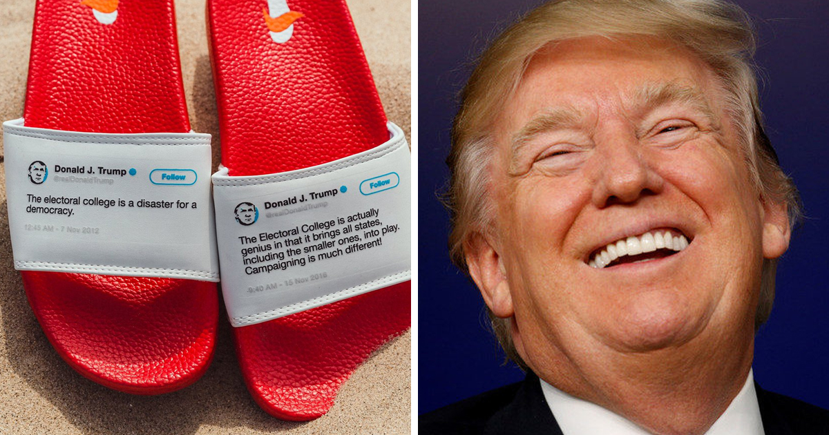 e6f32b7c3619 This Man Made Flip Flops out of Absurd Trump Tweets