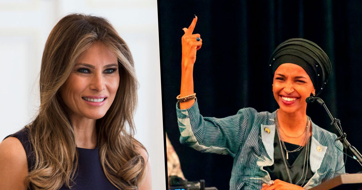 Image result for melania trump ilhan omar