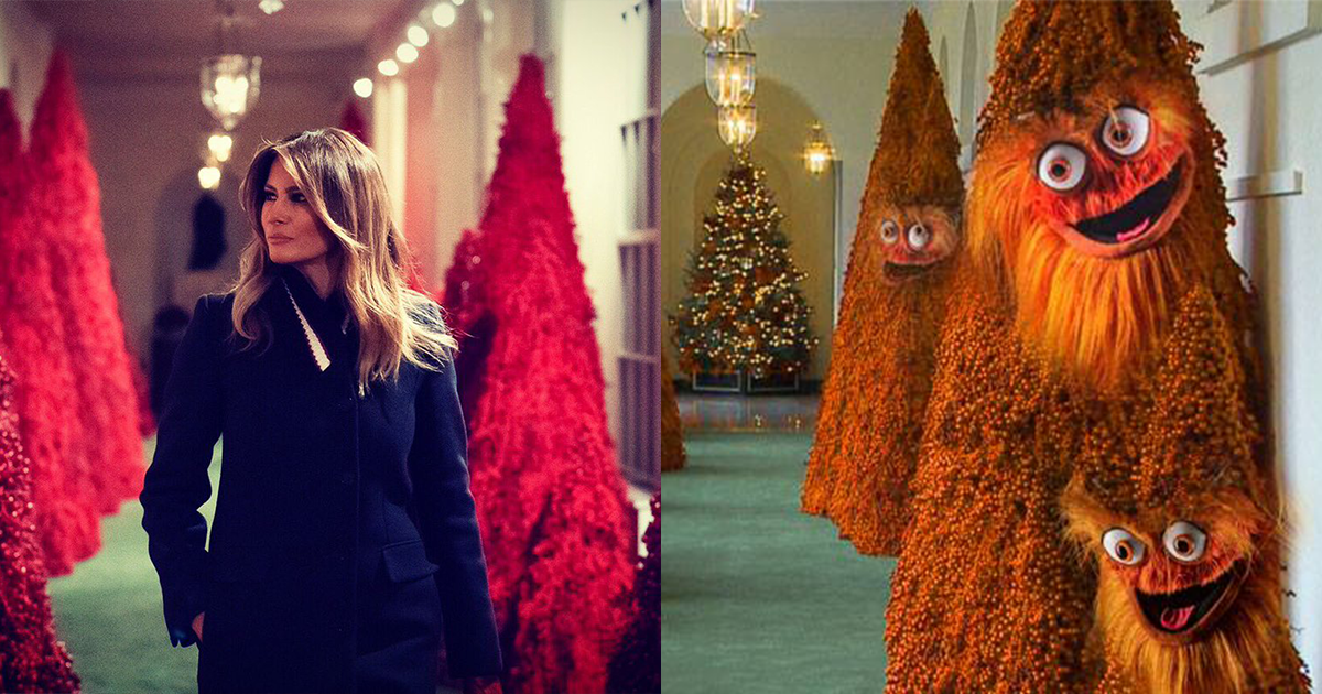 Melania Trump S 2018 Christmas Decorations Are Bizarre 22 Words