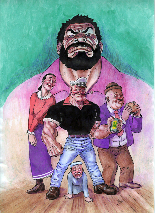 29 Artists Interpretations Of A More Realistic Popeye
