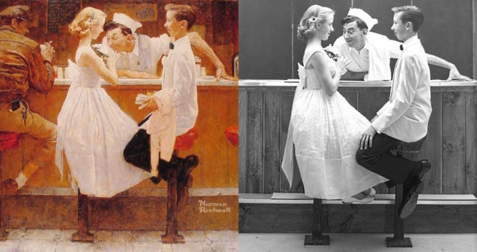 Norman Rockwell Painting Photos 1