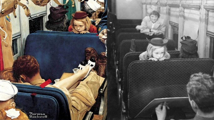 Norman Rockwell Painting Photos 2
