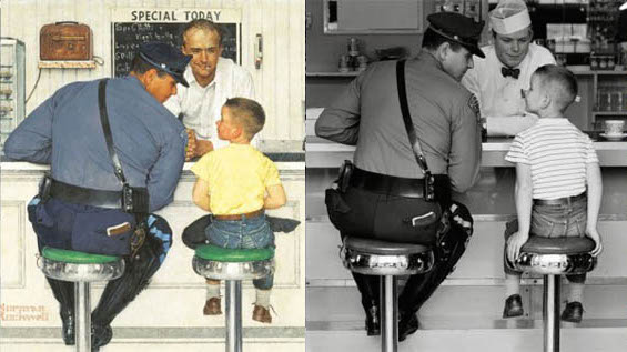 Norman Rockwell Painting Photos 7