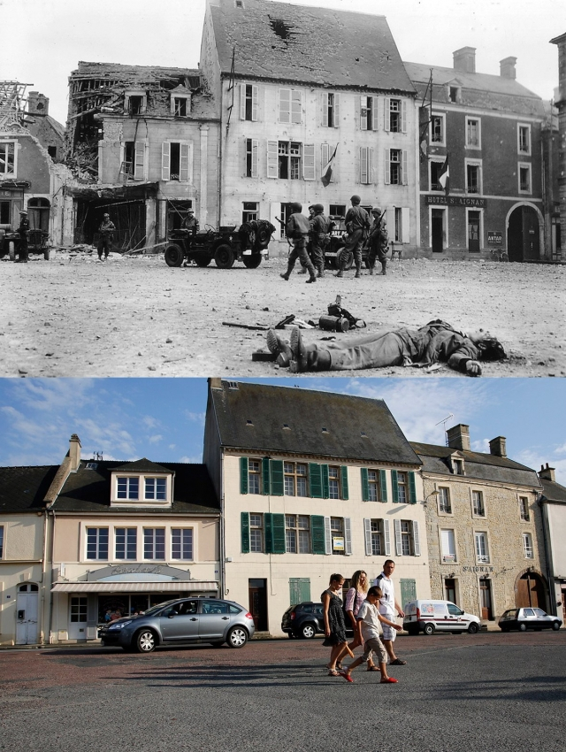 Normandy Then Now 12