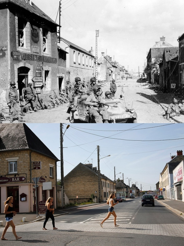 Normandy Then Now 13