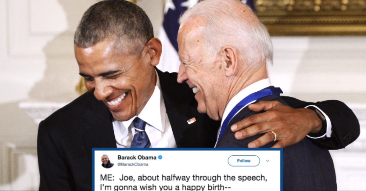 Obamas Happy Birthday Meme To Joe Biden Proves Their Bromance Is Still Going Strong