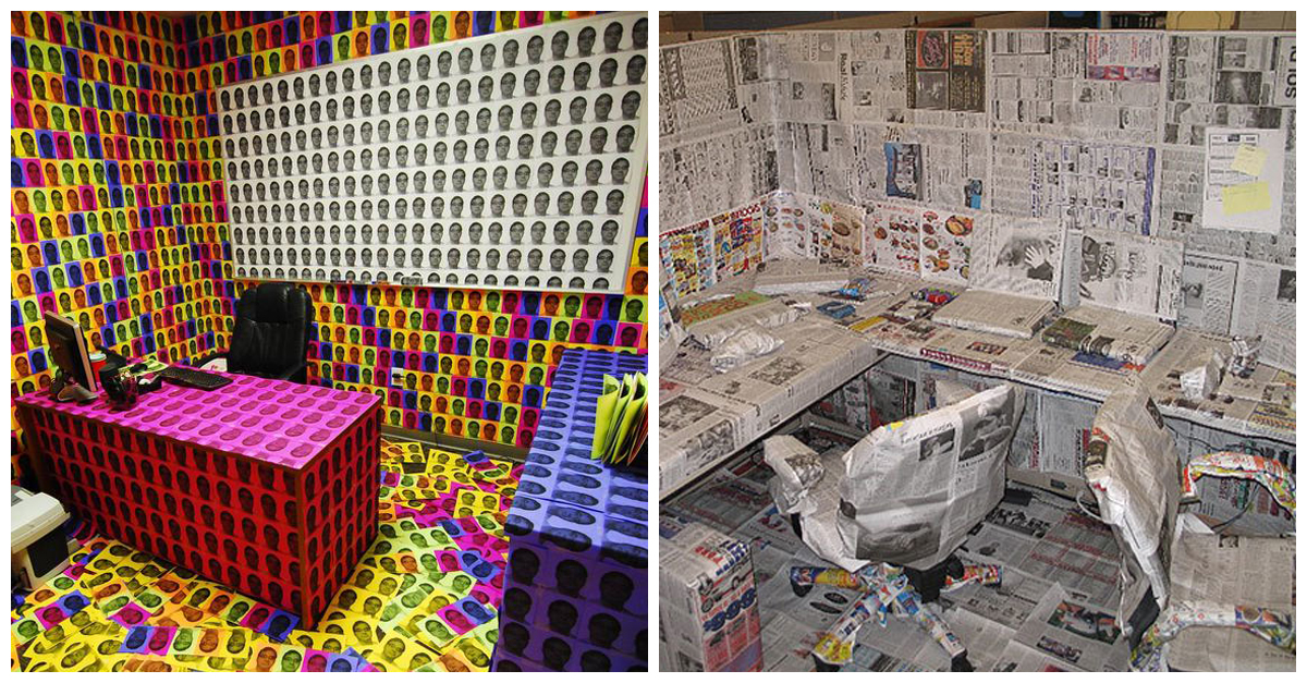 40 Hilarious Office Pranks That Will Make You So Glad You
