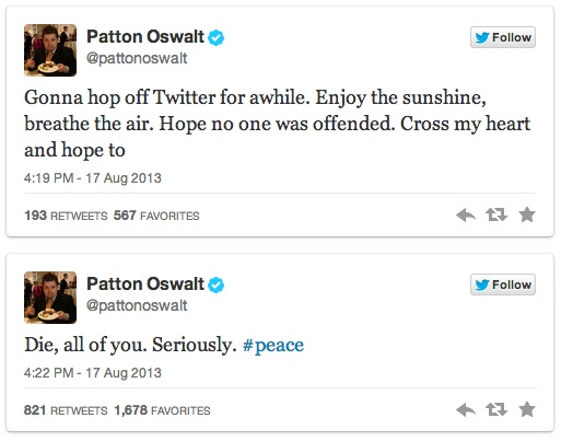 Patton Oswalt's Twitter Trolling - 07