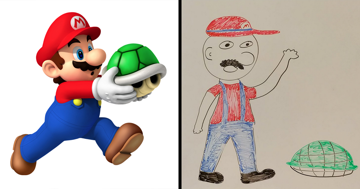 People Who Tried To Draw Video Game Characters Screwed It Up 22w