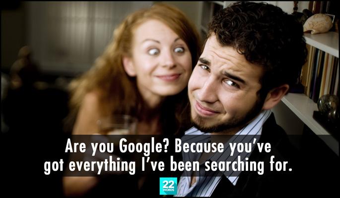 google pick up lines