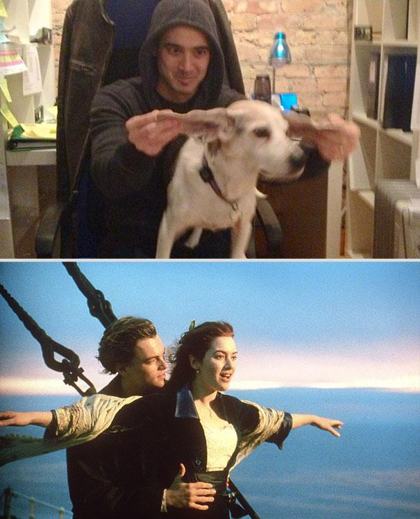 Re-enacting movie scenes with a dog - 12