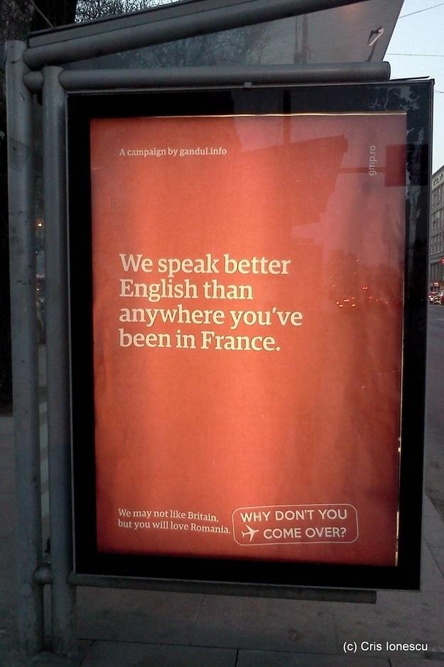 Romanian tourism ads poking fun at Britain - 02