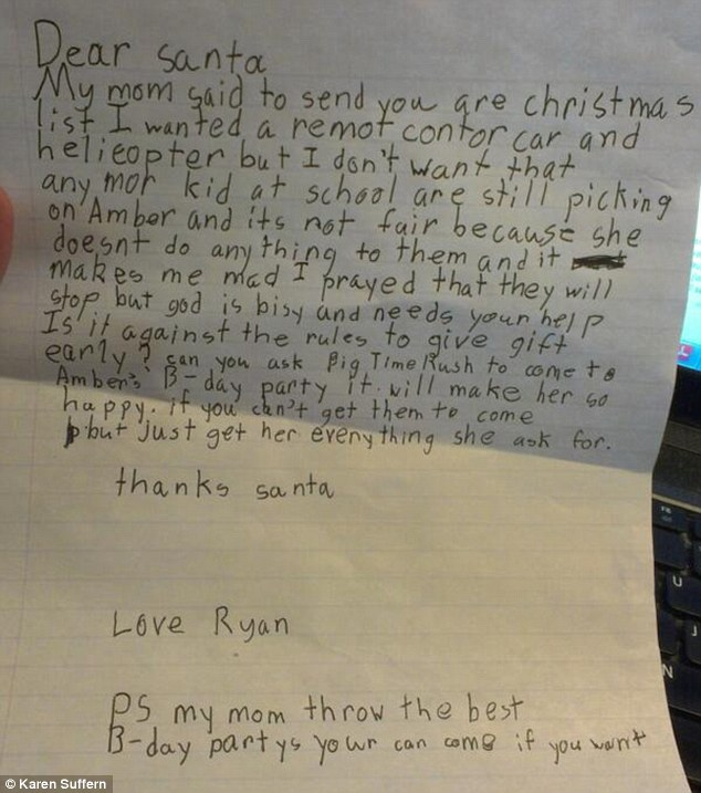 Ryan and Amber - Letter to Santa