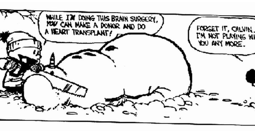 Funny calvin and hobbes comics