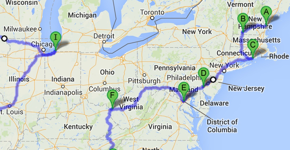 How to drive through all 48 of the contiguous United States in 113 ...