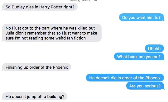 Guy Thought He Was Reading 'Harry Potter' For the First Time