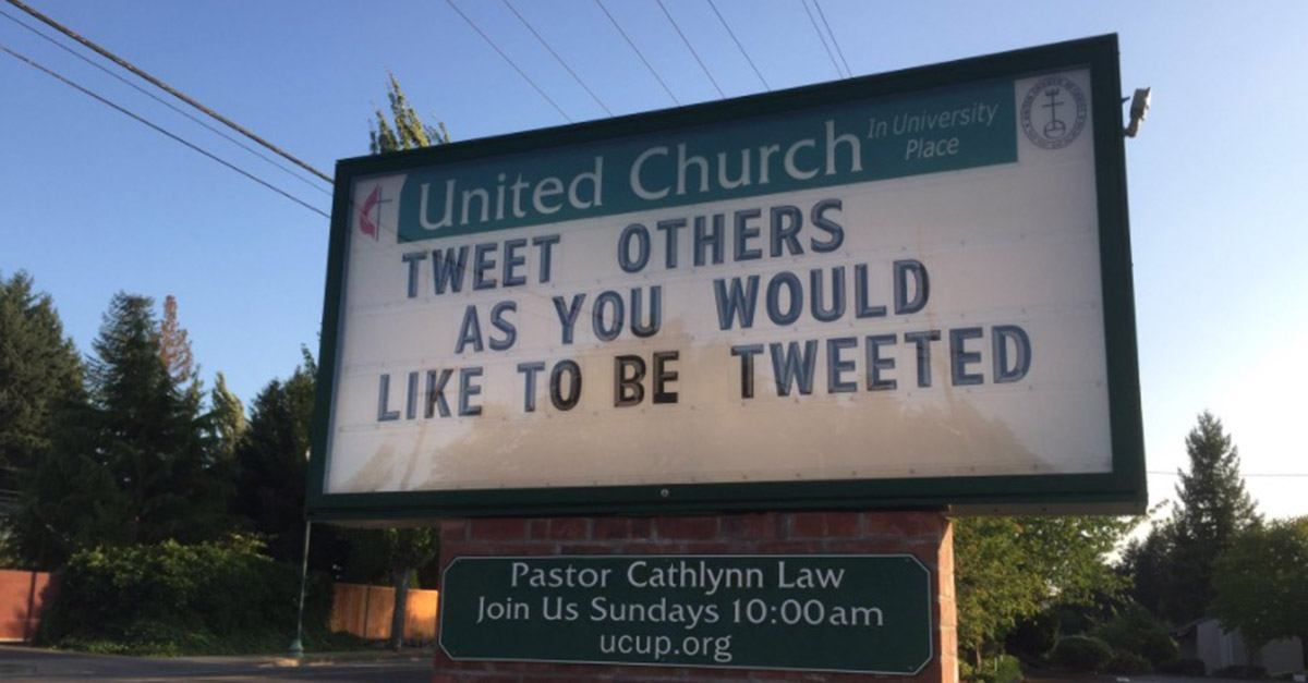 Twitter S Posting The Funniest Church Signs Around The
