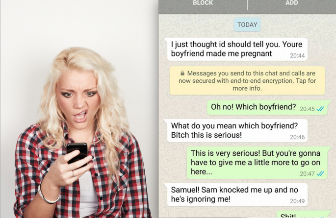 Pregnant Side Chick Texts The Wrong Person And Things Take