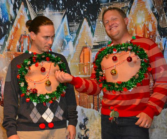 via etsy - Christmas Boobies