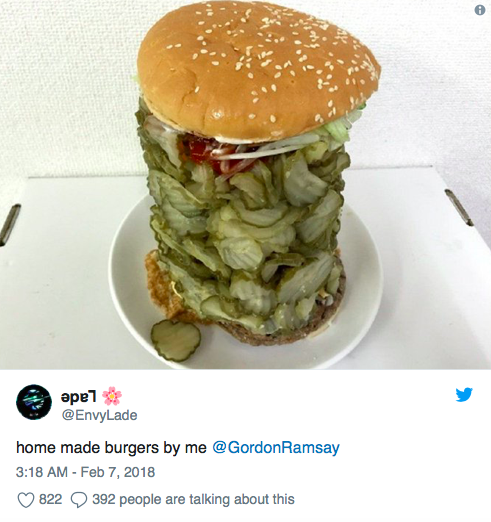 He decided store-brought burgers weren't good enough for him. He would make them homemade, and add *gasp* mounds of beef. Advertisement. Was Gordon Ramsey ...