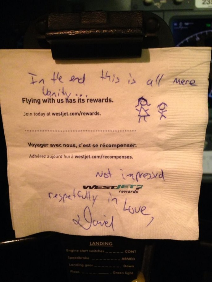Sexist Note for Female Pilot - 02