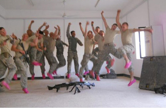 Soldiers Goofing Off - 13