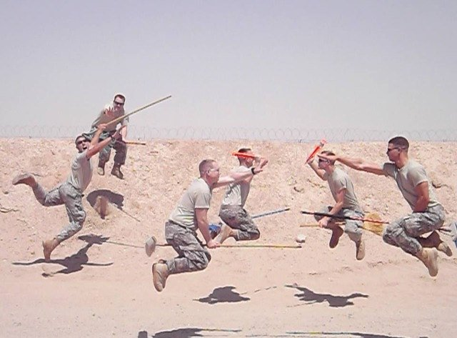 Soldiers Goofing Off - 17