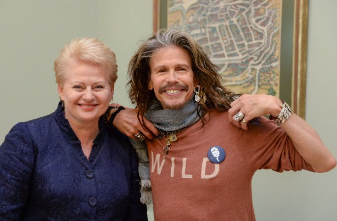 Steven Tyler and the Lithuanian President
