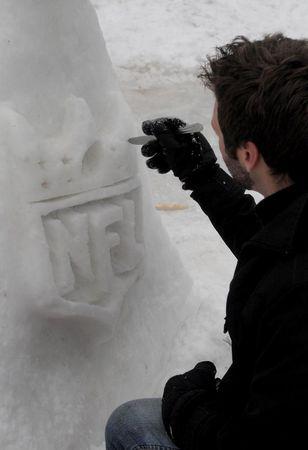 Super Bowl Snow Sculpture - 05