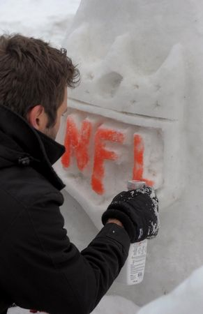 Super Bowl Snow Sculpture - 06