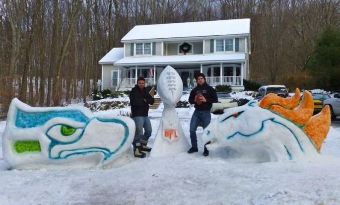 Super Bowl Snow Sculpture - 09