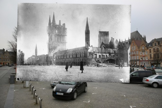 WWI Pictures overlaid on pictures of their modern-day location - 03