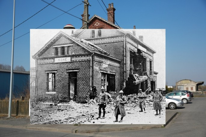 WWI Pictures overlaid on pictures of their modern-day location - 04