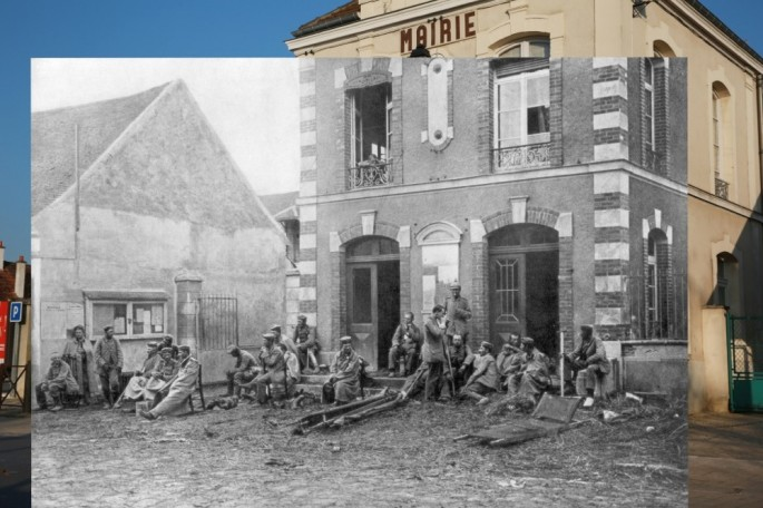 WWI Pictures overlaid on pictures of their modern-day location - 07