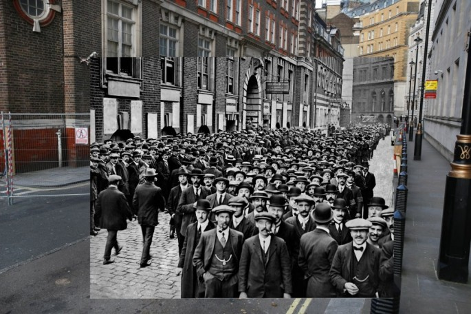 WWI Pictures overlaid on pictures of their modern-day location - 08