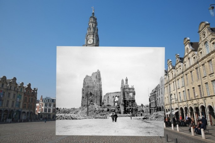 WWI Pictures overlaid on pictures of their modern-day location - 12
