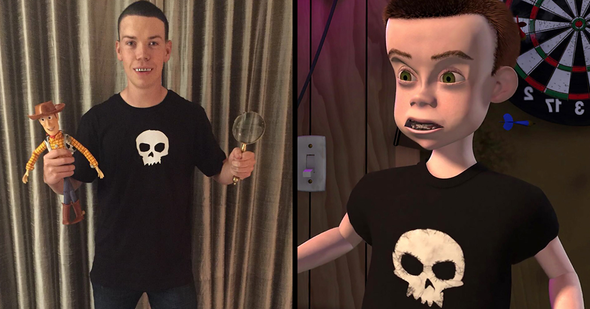Will Poulter Dresses As Sid From Toy Story For Halloween 22 Words