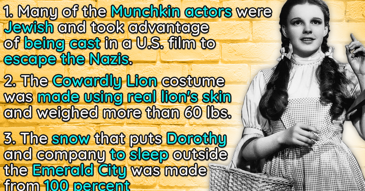 15 Behind The Scenes Wizard Of Oz Facts 22words