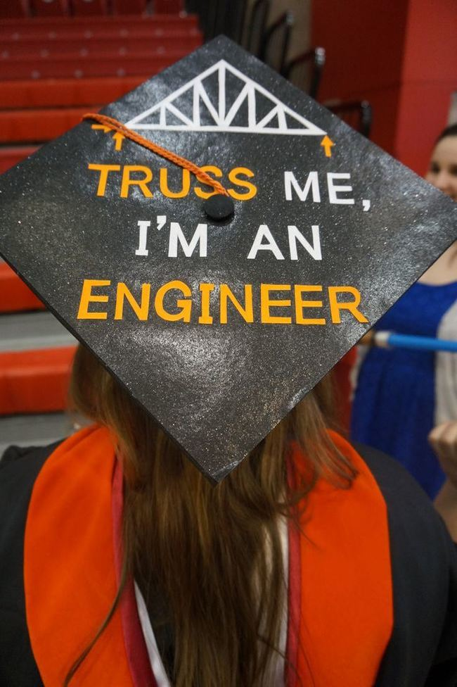 engineer - Graduation Caps Decorated