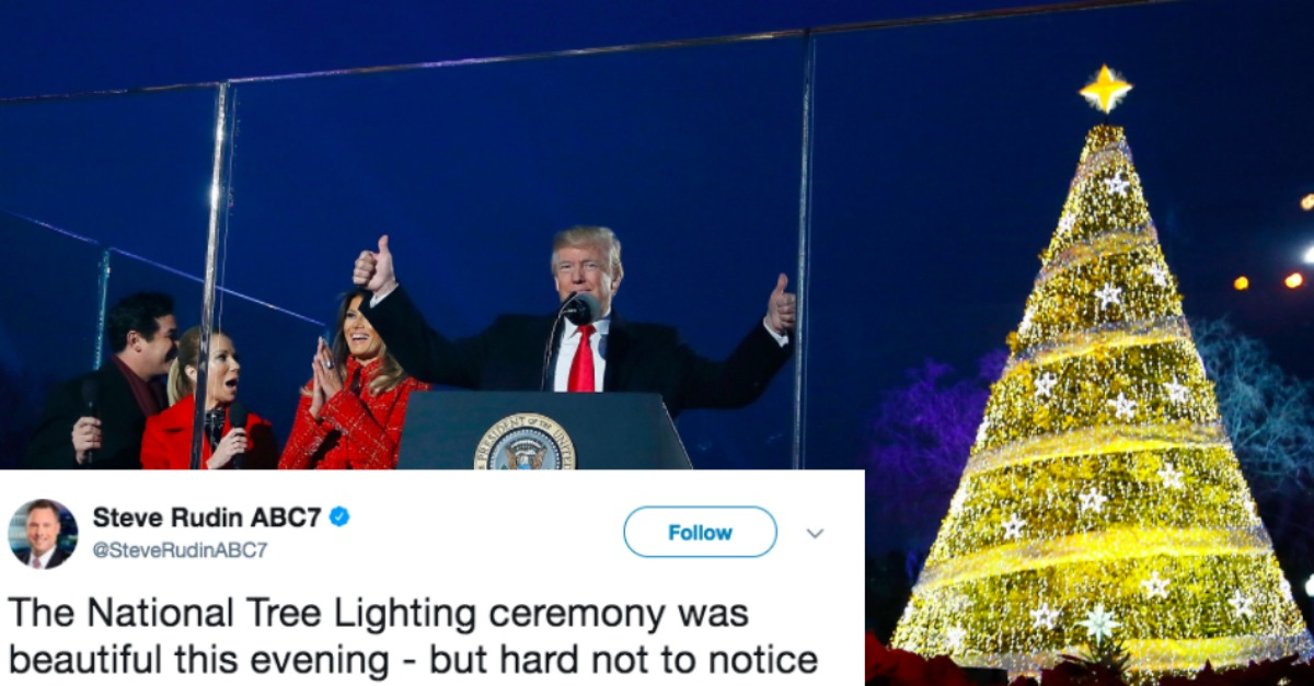 something went very wrong with the white house christmas tree lighting ceremony 22 words
