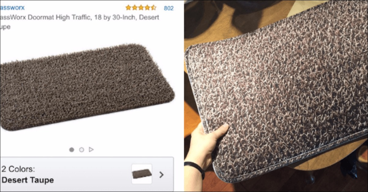 This Woman Was Left Floored After She Bought a Doormat Online And Received THIS Instead | 22 Words & This Woman Was Left Floored After She Bought a Doormat Online And ... pezcame.com