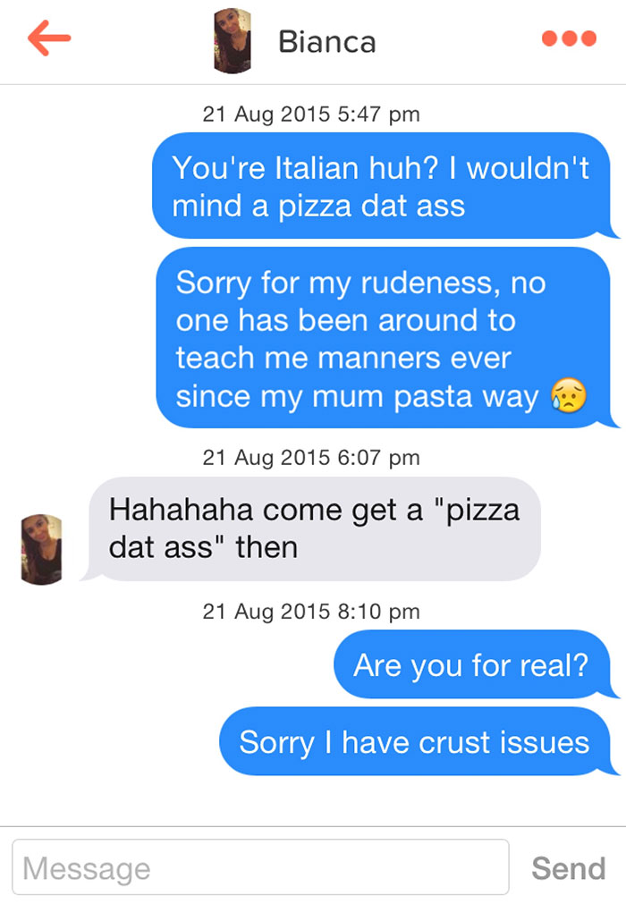 30 tinder pick up puns that are so bad you can t help but laugh