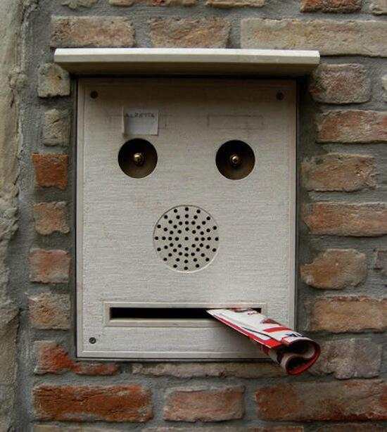 Mail box face