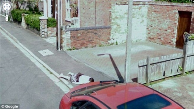 The 45 Creepiest Things That Have Been Captured On-Camera By Google Dead Guy On Google Maps Coordinates on
