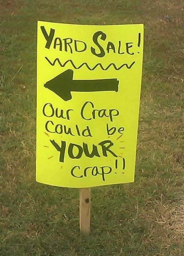 sign for yard sale